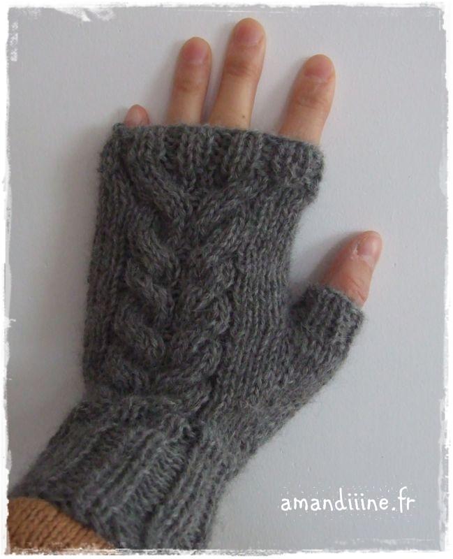 Modele tricot mitaines torsade - Modele mitaine tricot facile ...