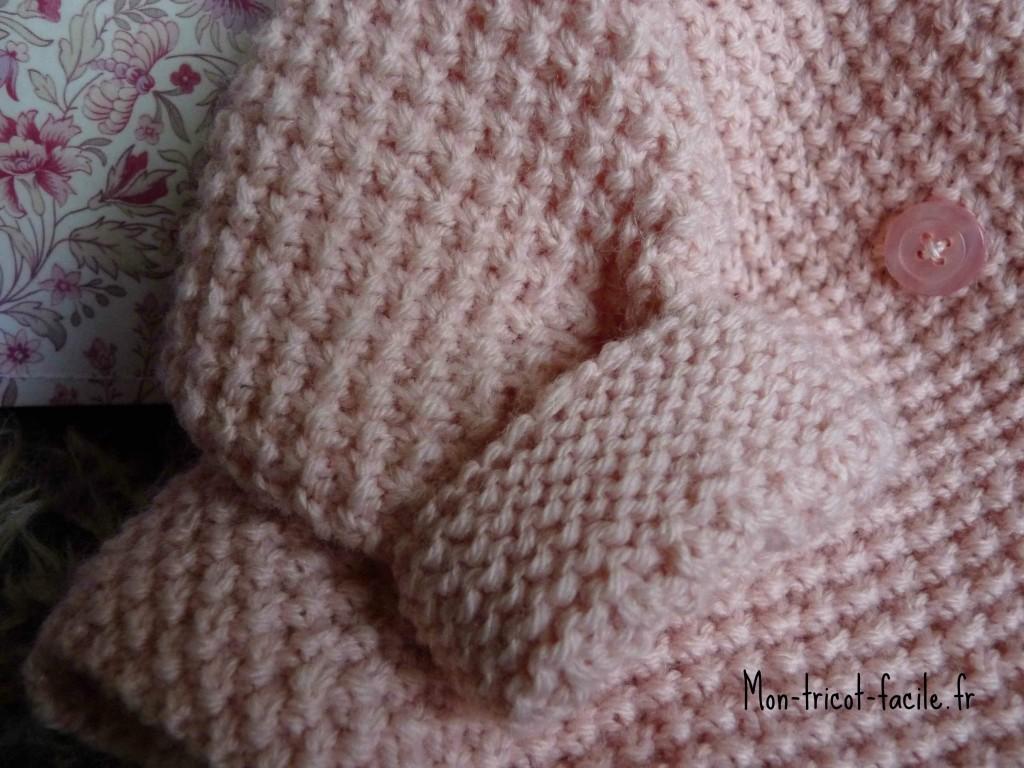 patron tricot couverture bébé facile