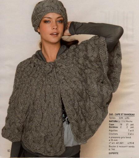 Modele tricot cape femme - Explication pour tricoter un poncho femme ...