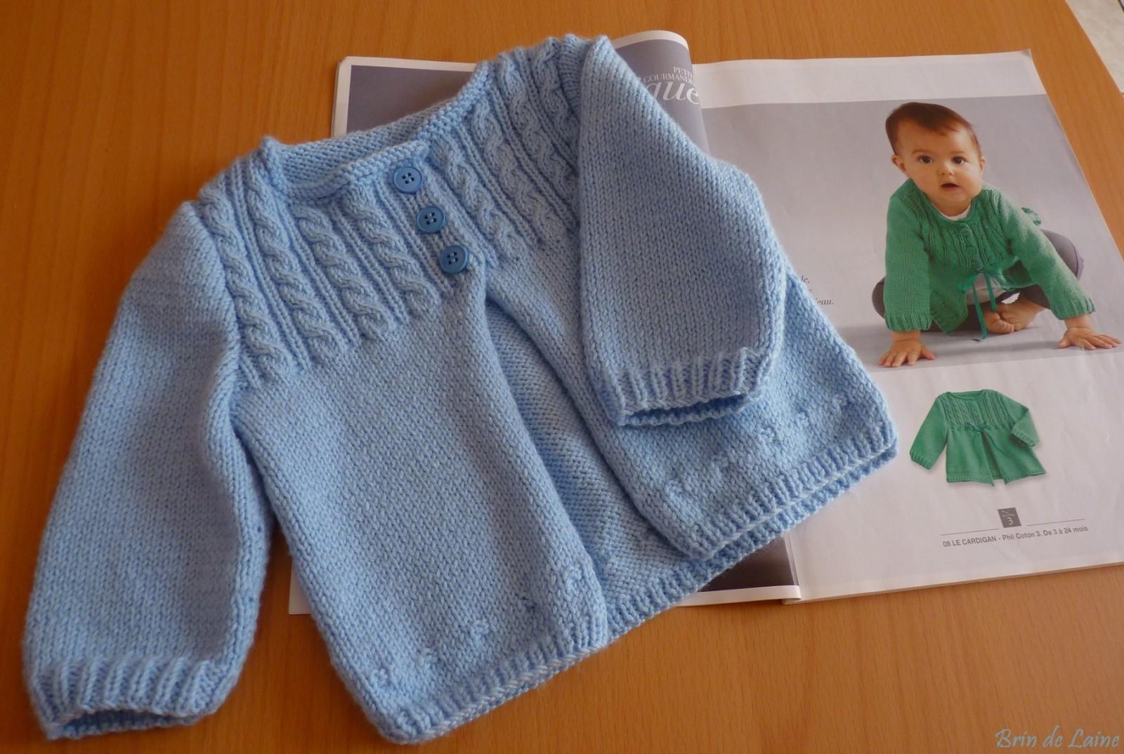 explication gilet bebe tricot