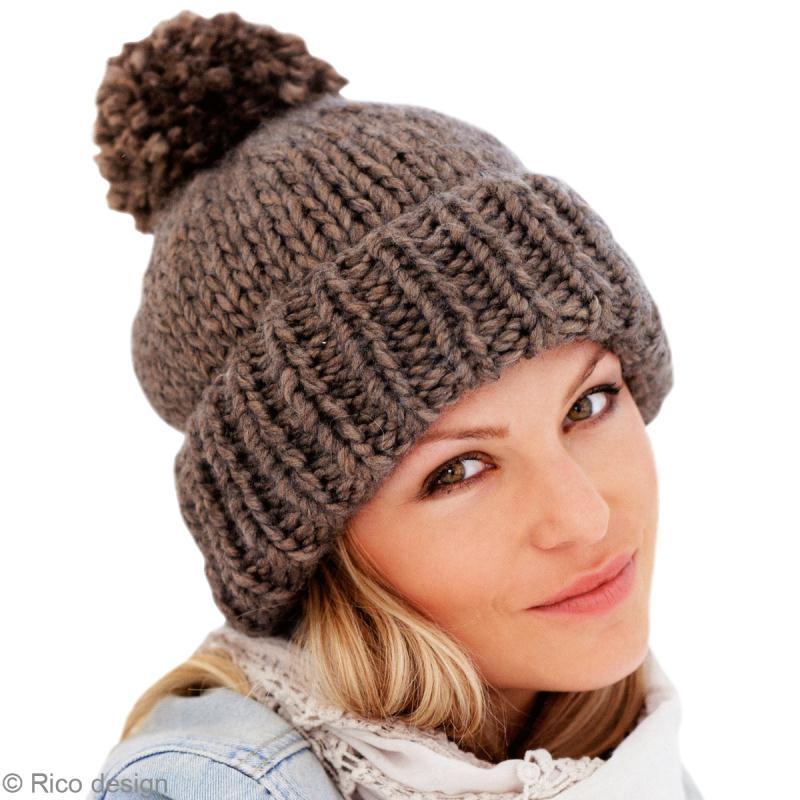 modèle tricot bonnet laine femme