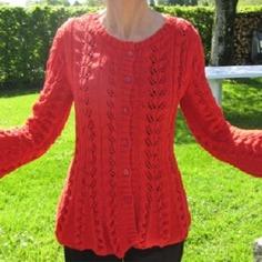 modèle tricot gilet ajoure