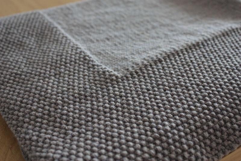 patron tricot couverture adulte