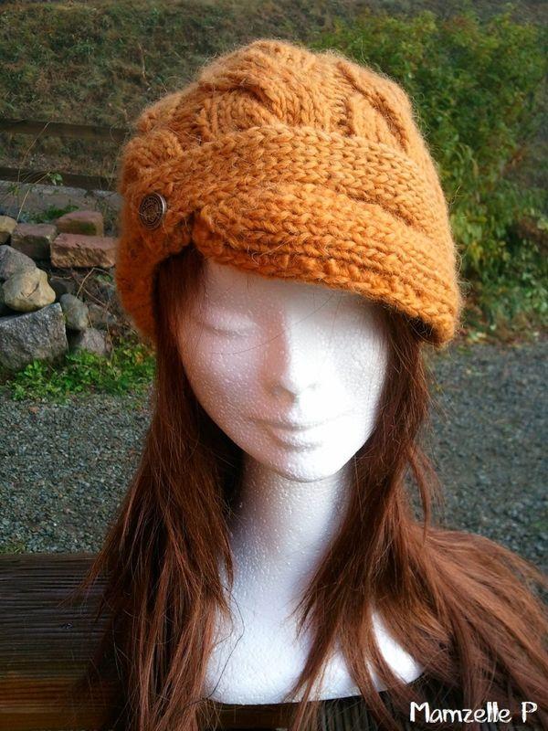 modèle tricot bonnet casquette