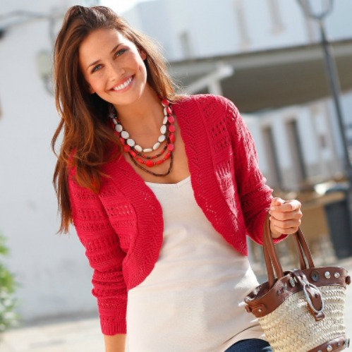 modele tricot bolero manche longue femme