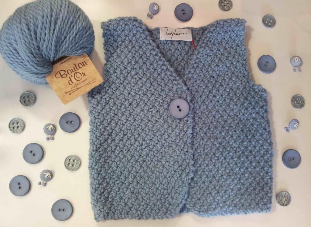 modèle tricot gilet sans manche 3 ans