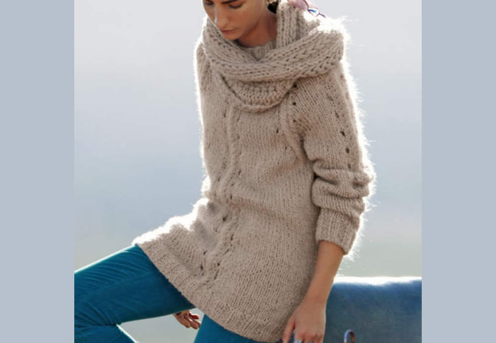 pull col snood femme