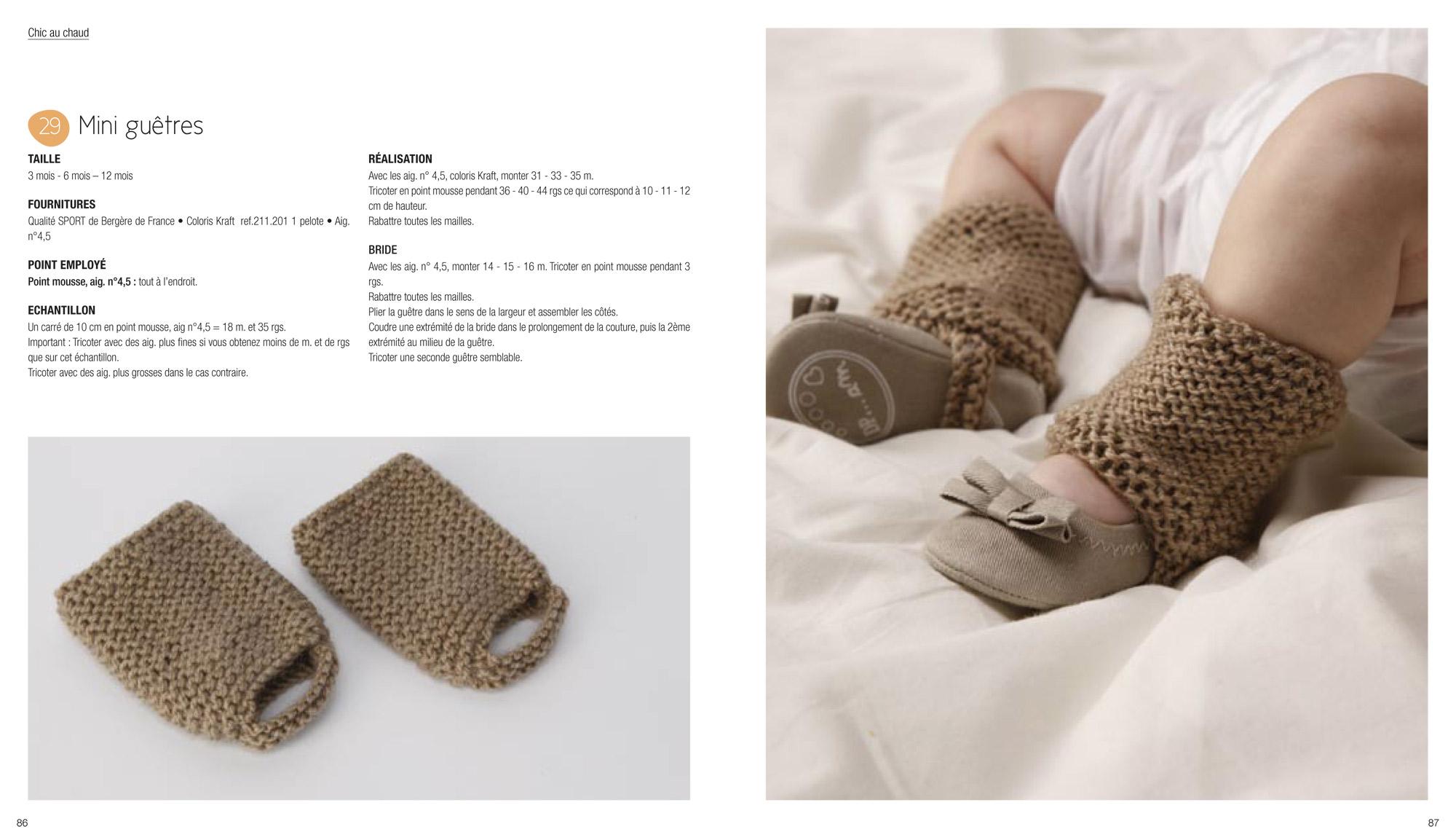 comment tricoter jambieres pour bebe