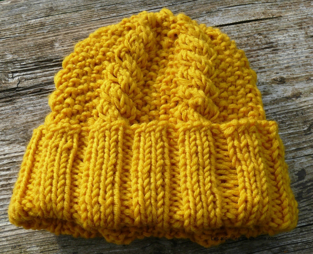 Mod le tricot bonnet aiguille 6 - Aiguille a tricoter geante ...