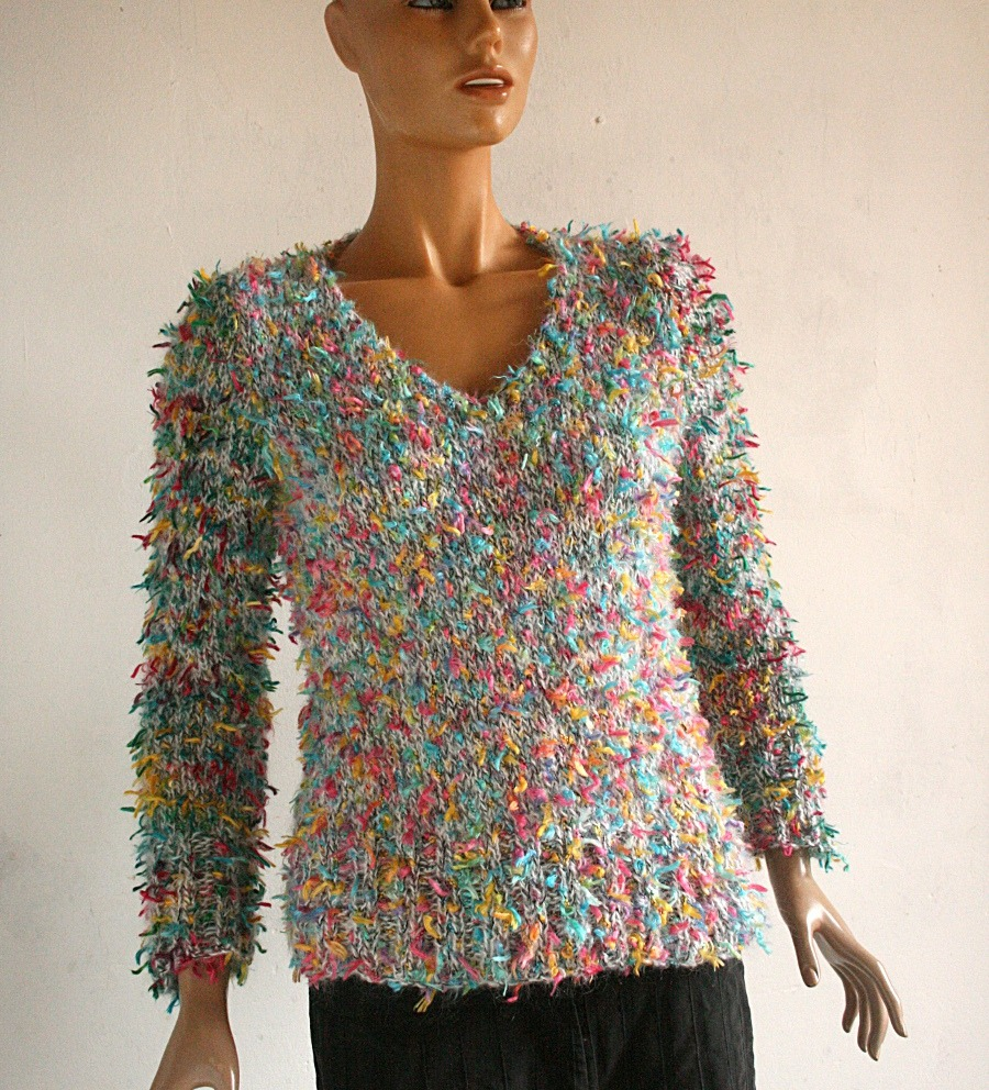 modèle tricot pull v femme