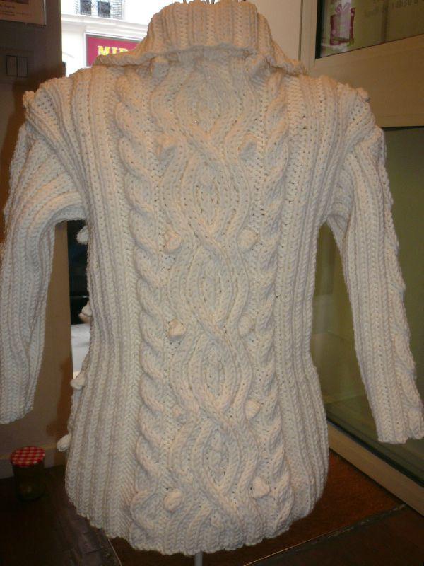modele pull irlandais a tricoter