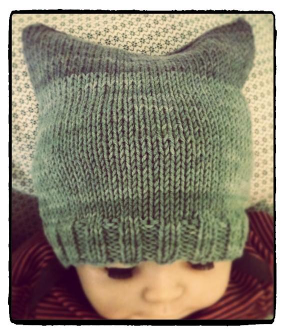tricoter un bonnet carre