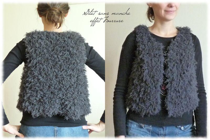Mod le tricoter gilet sans manche - Tricot sans aiguille ...