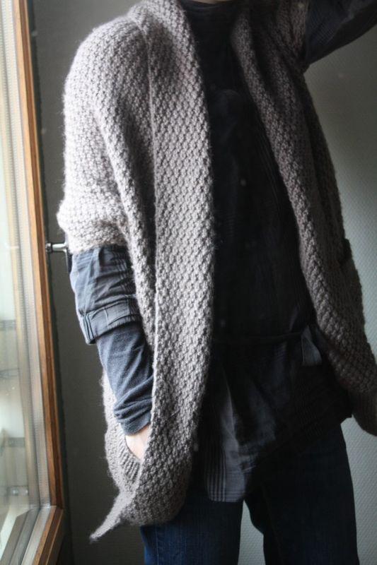 patron tricot gilet cape