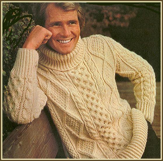 tricoter un pull irlandais pour homme