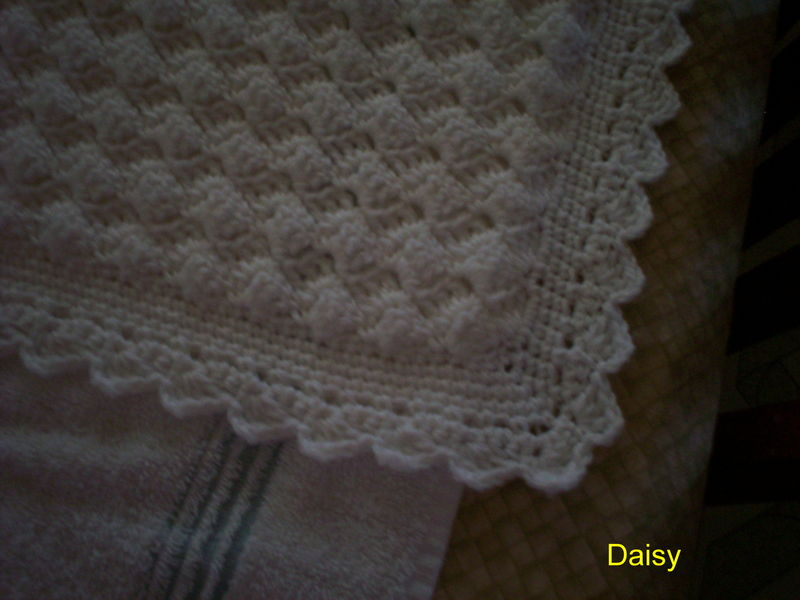 patron tricot couverture bapteme