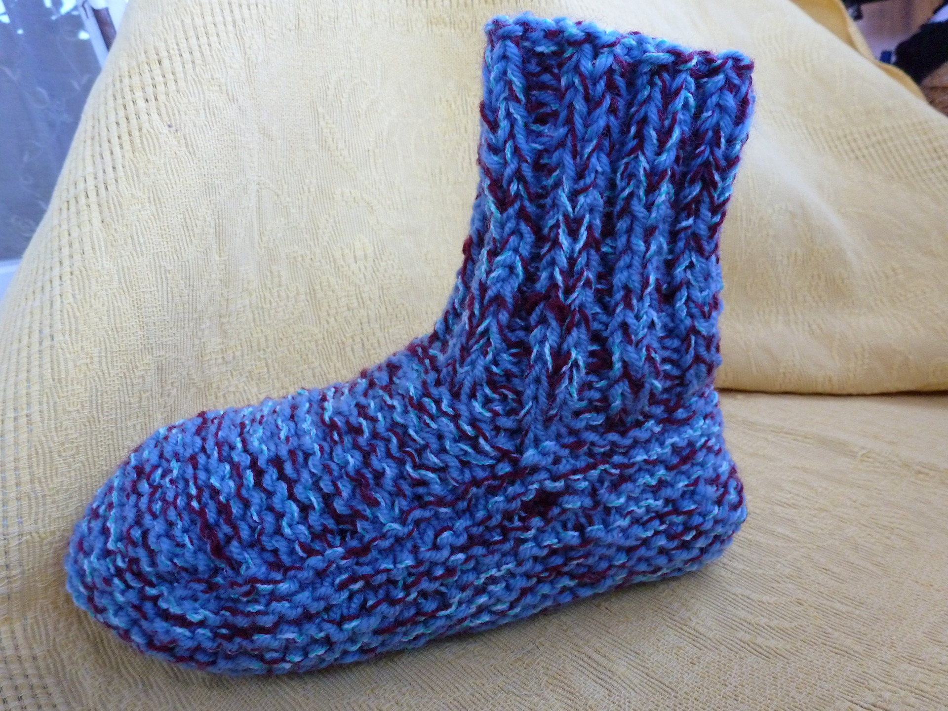 modeles chaussons adulte tricot