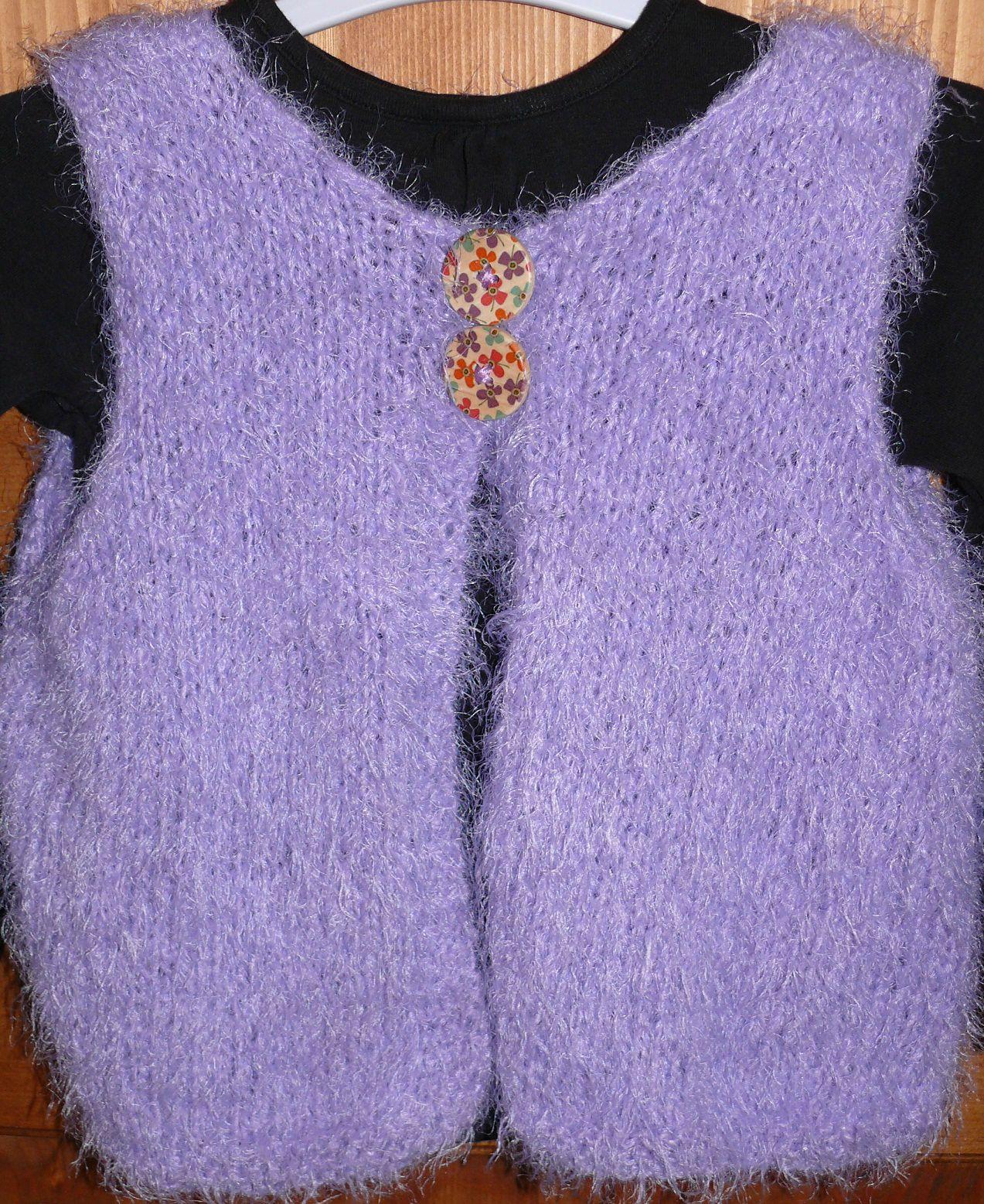 Mod le tricot gratuit gilet sans manche b b - Tricot sans aiguille ...