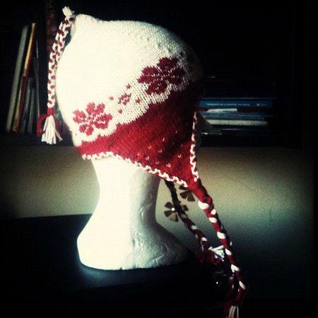 modèle tricot bonnet peruvien