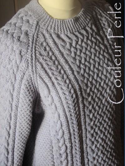 modèle tricoter pull irlandais homme