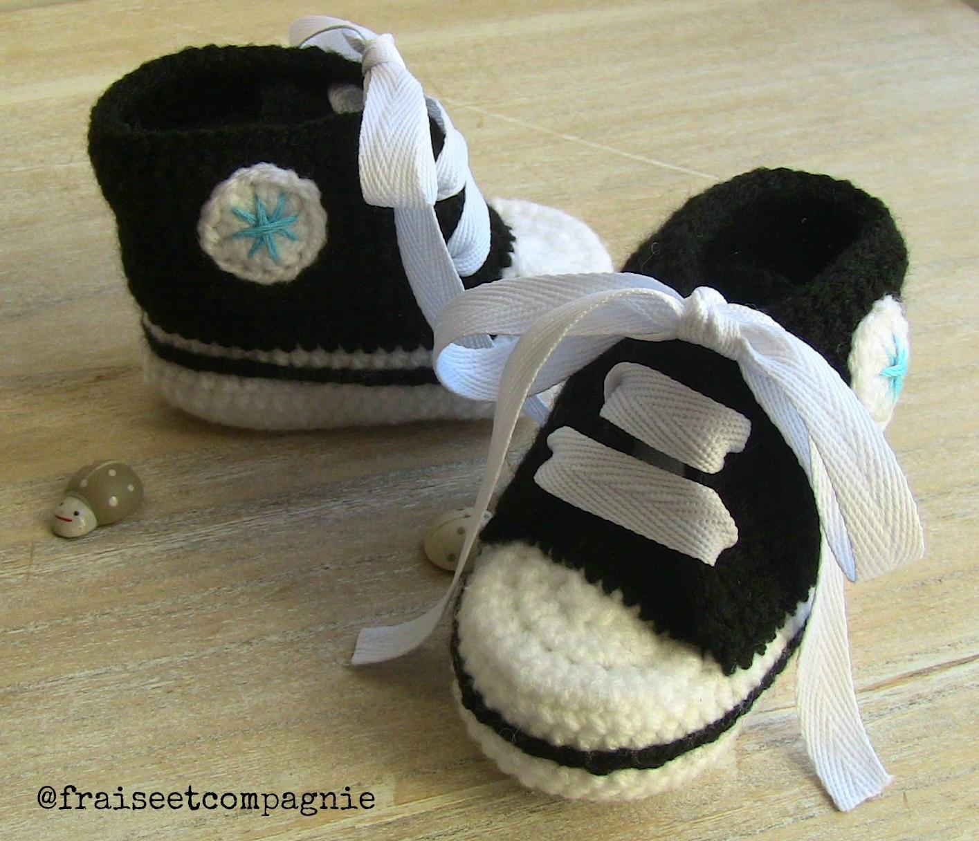 patron tricot gratuit chausson bébé