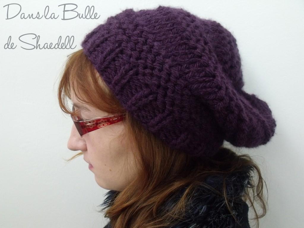 tricoter un bonnet slouch