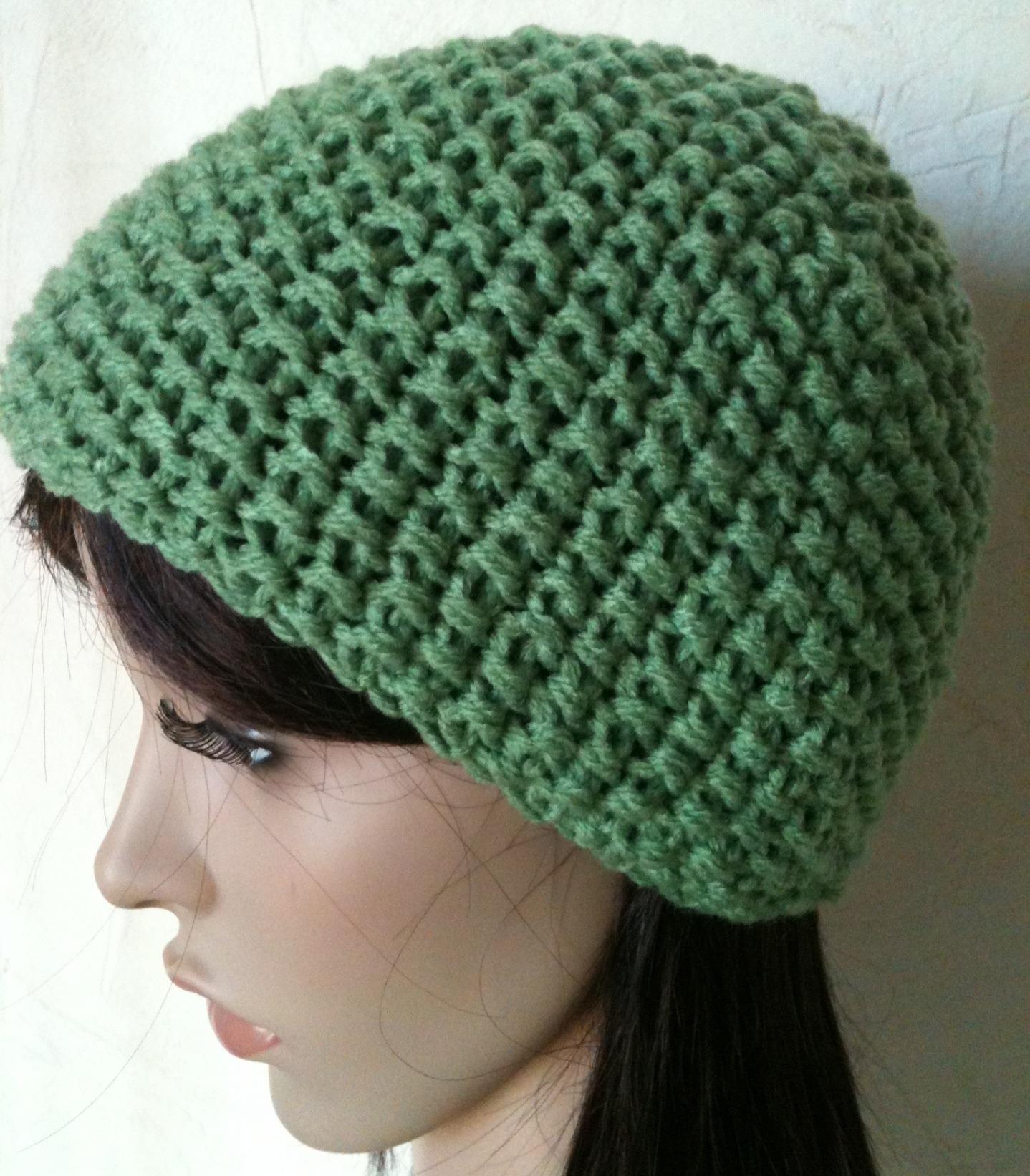 tricoter un bonnet rond