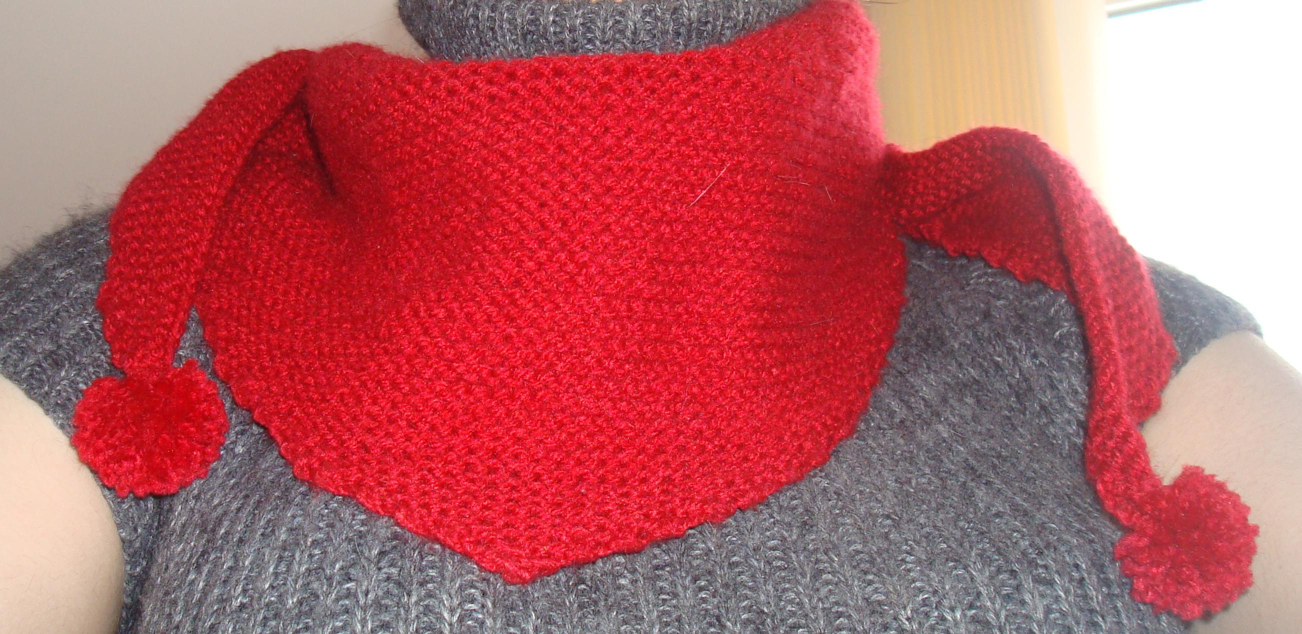 Tricoter un foulard en triangle - Cote 2 2 tricot ...