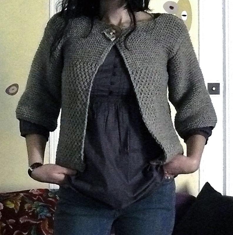 affichage mod le tricot gilet grosse laine. Black Bedroom Furniture Sets. Home Design Ideas