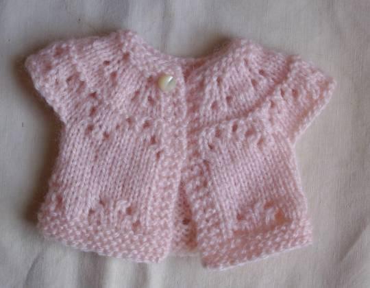modèle tricot gilet poupon