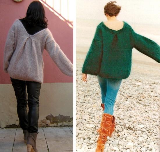 modèle tricot pull oversize