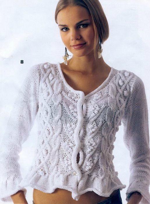 modèle veste tricot dentelle