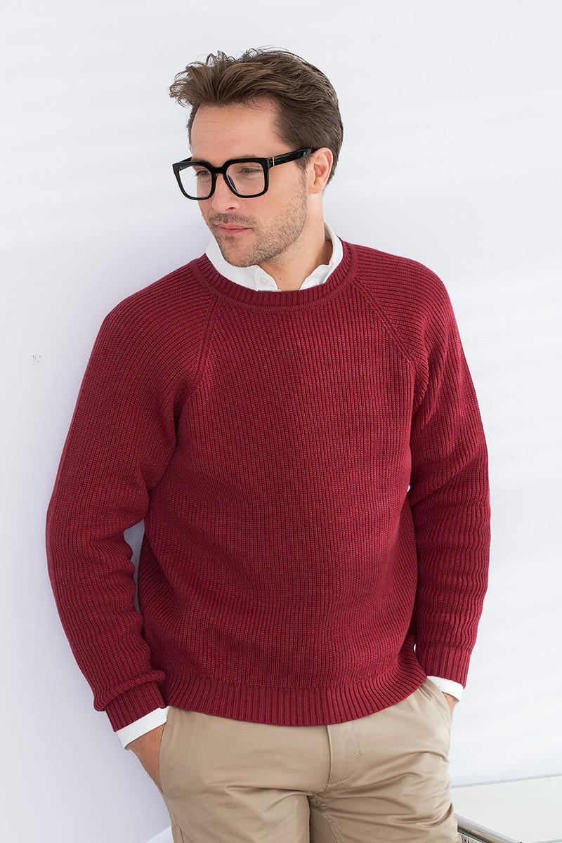 modèle tricot pull ras du cou