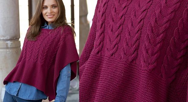 modele tricot gratuit de poncho