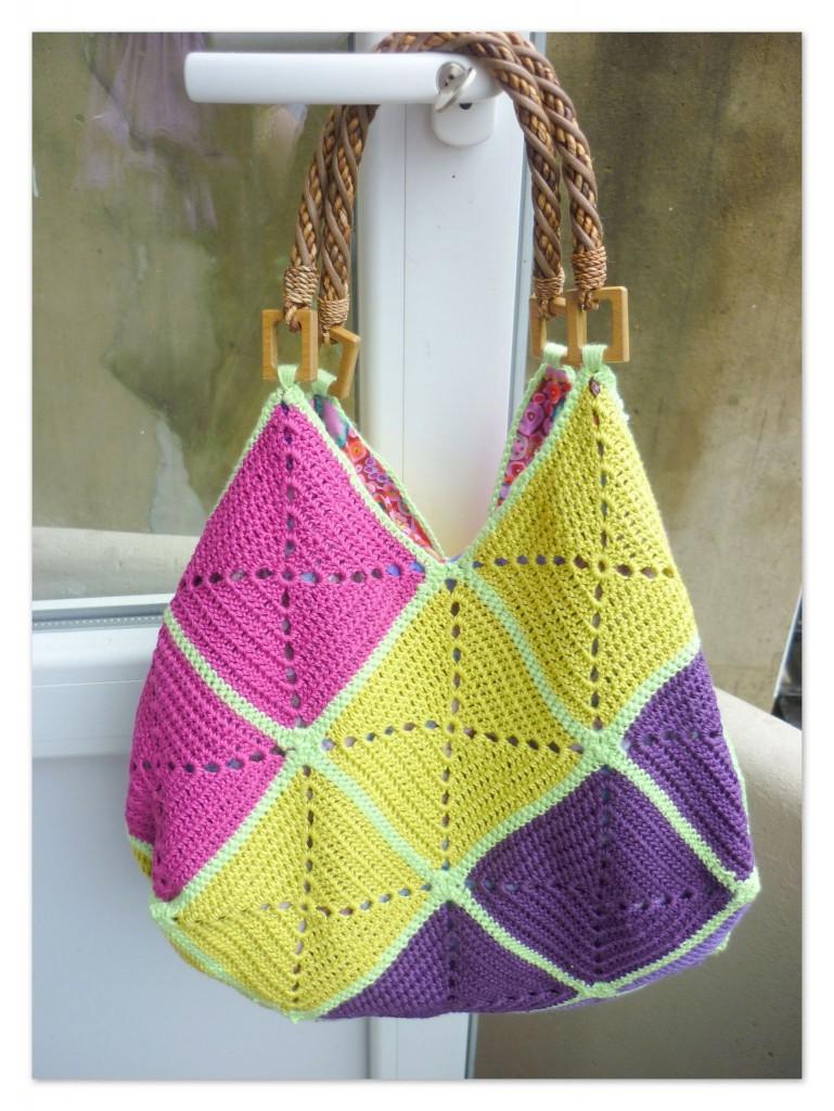 modèle sac tricot bergere de france