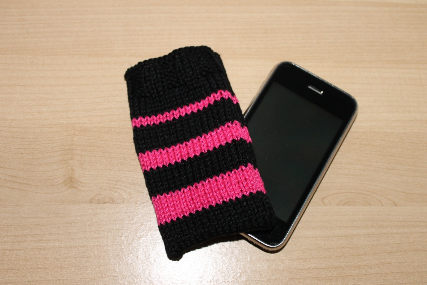 modele tricot chaussette telephone portable