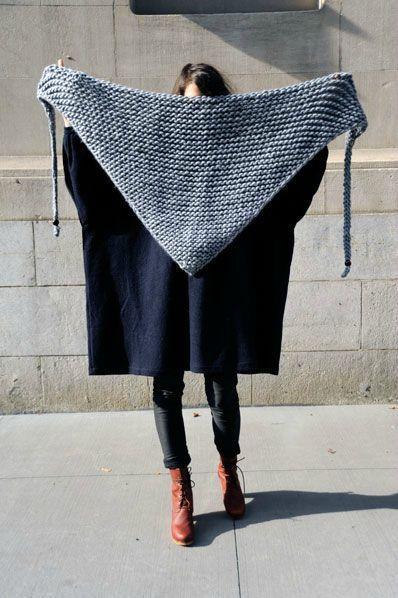 modele tricot echarpe triangle