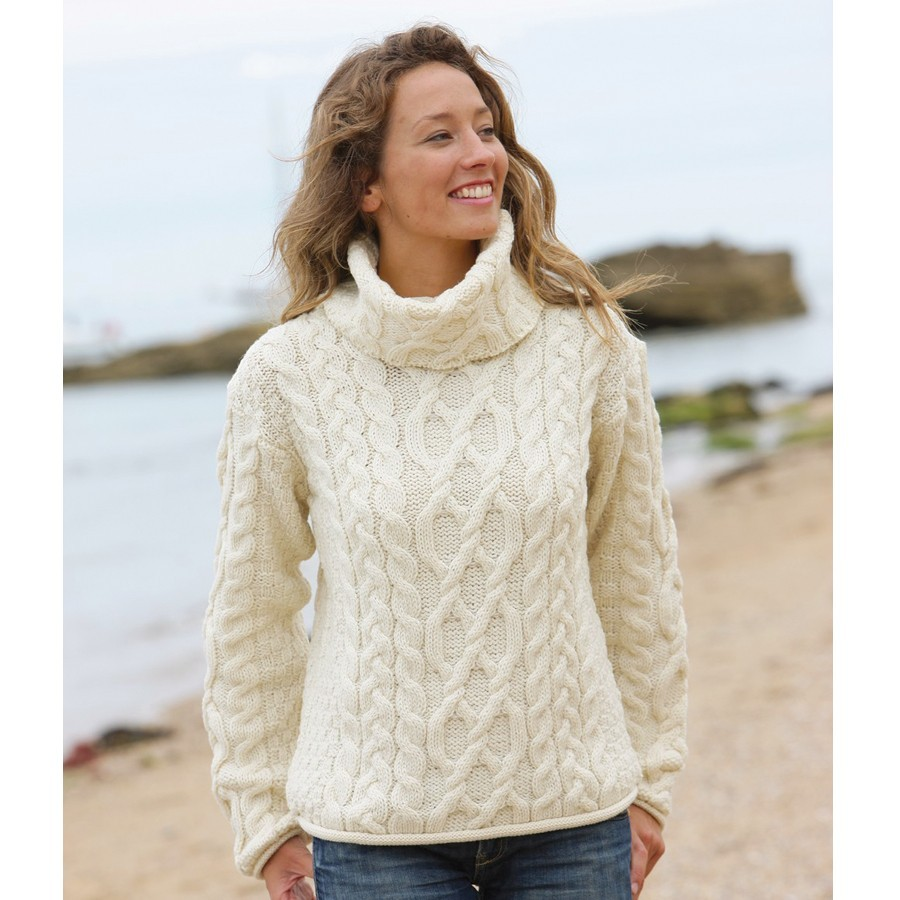 modele tricot pull col boule