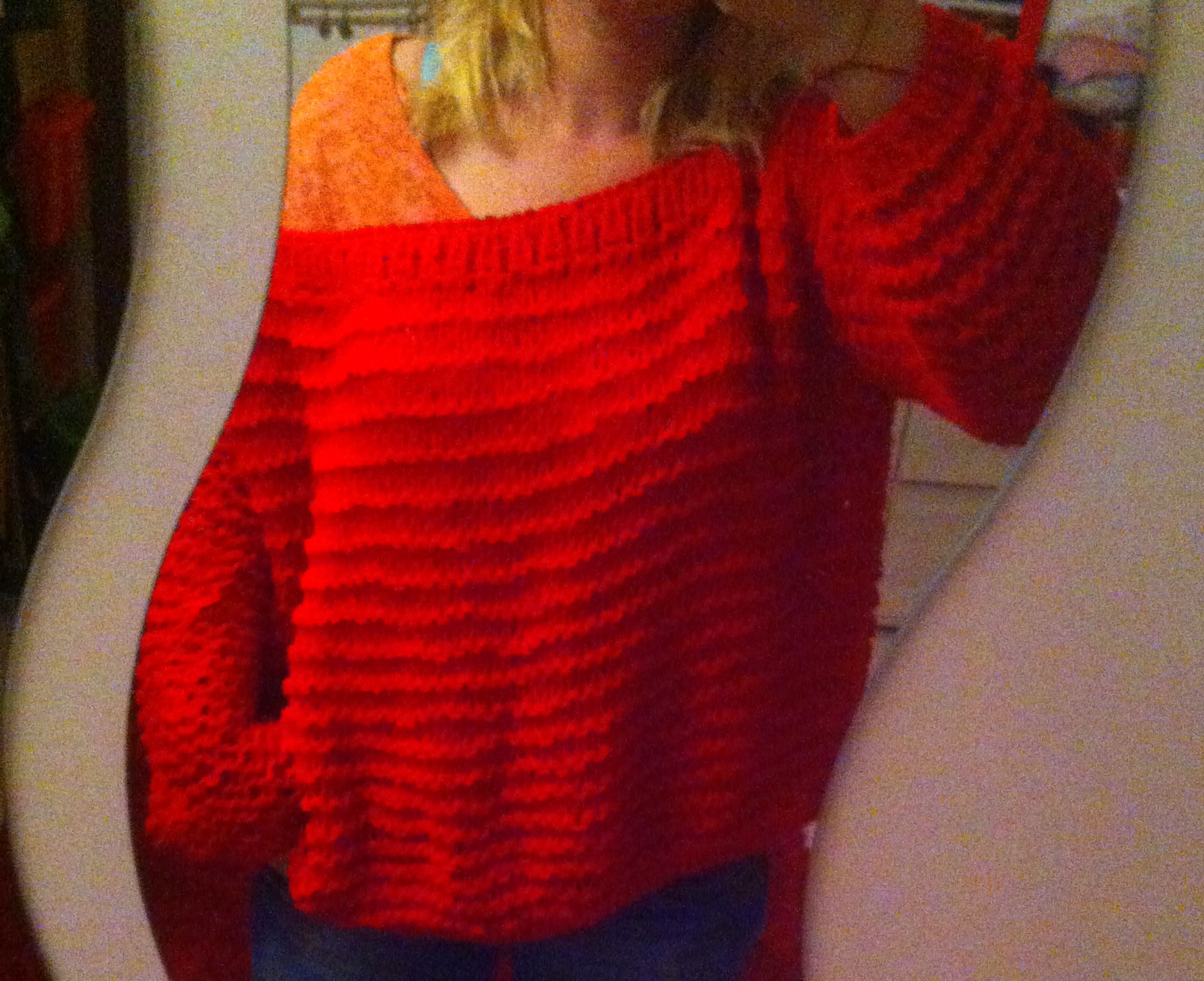 Mod le tricot pull oversize - Les differents points au tricotin ...