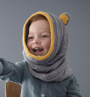 patron tricot cagoule bébé
