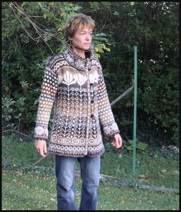 modèle tricot gilet jacquard