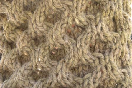 tricoter nid d'abeille