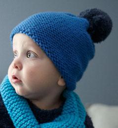 Mod le tricoter bonnet b b - Modele de bonnet a tricoter facile ...