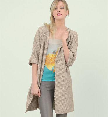 modele veste longue tricot gratuit