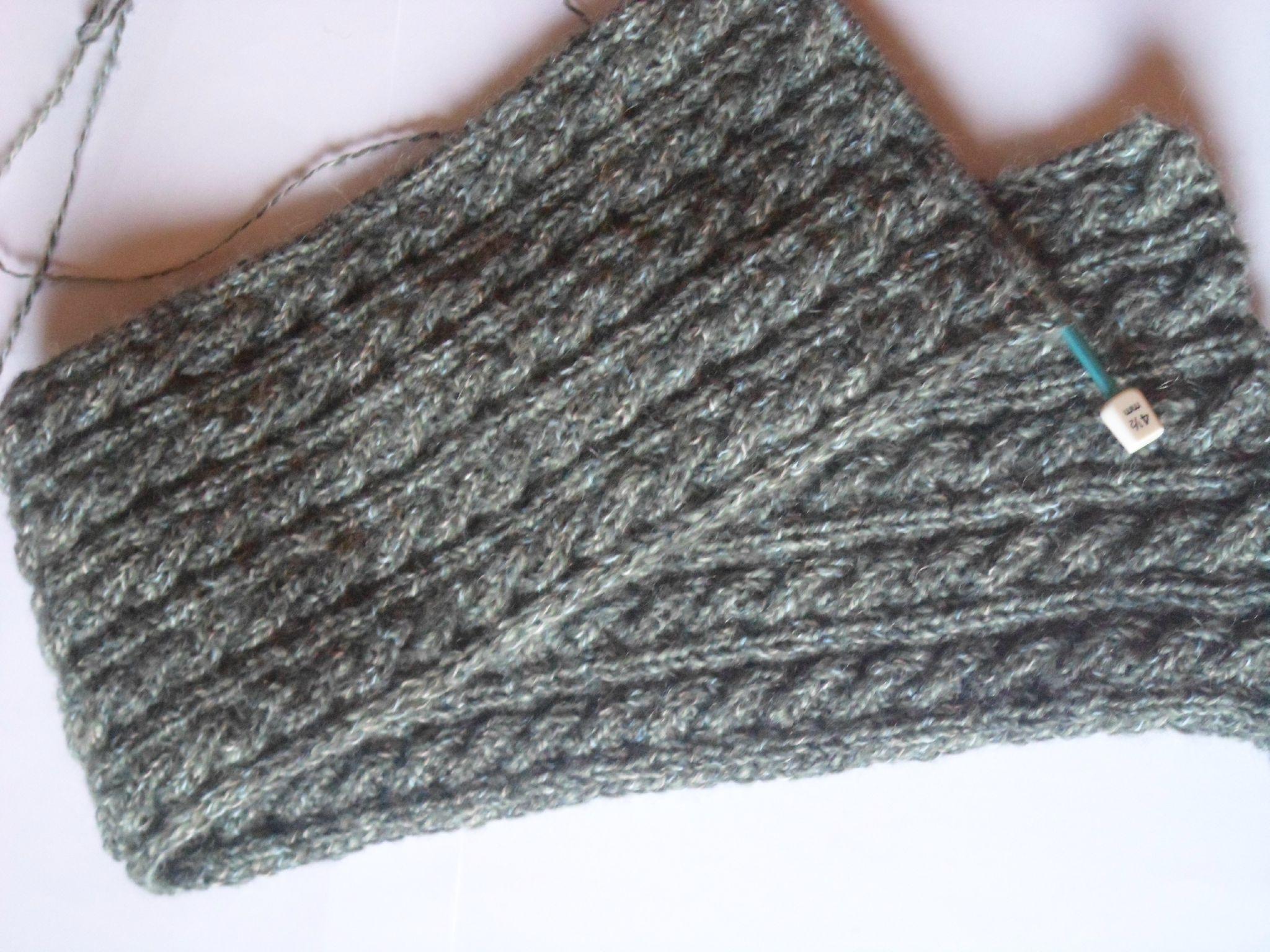 tricoter une torsade reversible