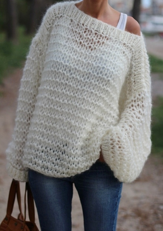 modèle tricot gilet grosse laine