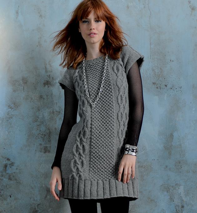 modèle tricot robe laine femme