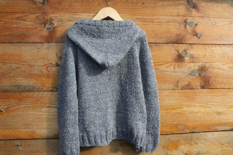 modèle tricot veste capuche