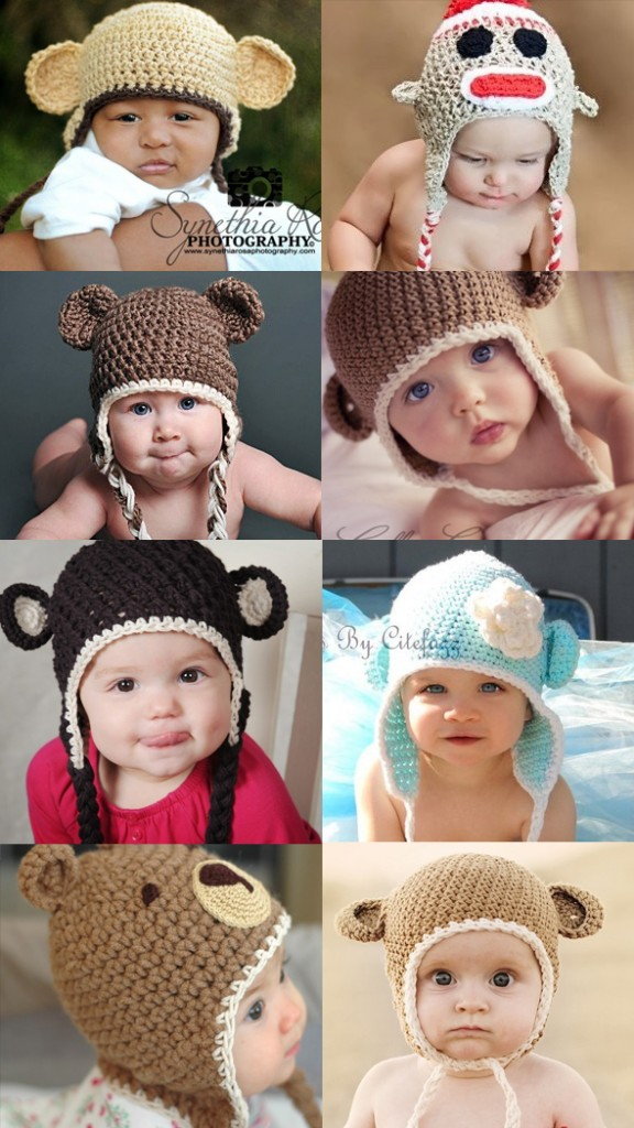 patron tricot bonnet bébé rigolo