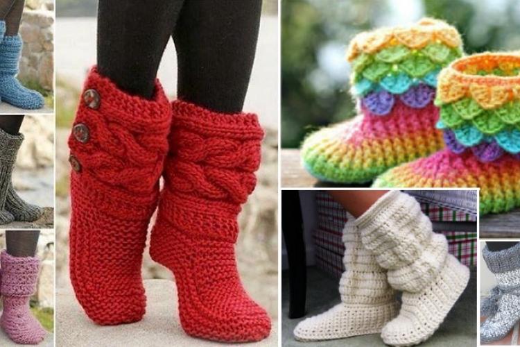 modele de pantoufle a tricoter gratuit